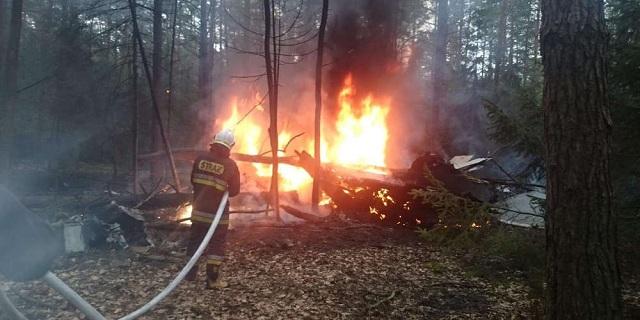 Μαχητικό αεροσκάφος συνετρίβη σε δάσος στη Πολωνία [εικόνες]