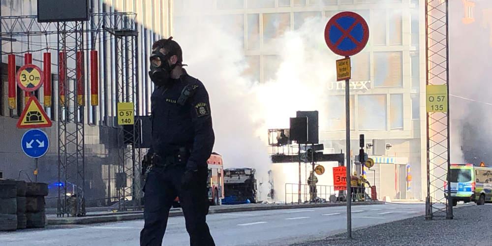 Εξερράγη λεωφορείο στο κέντρο της Στοκχόλμης