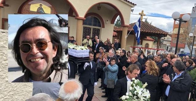 Πάνδημο το τελευταίο αντίο στον δημοσιογράφο Δημήτρη Βάλλα