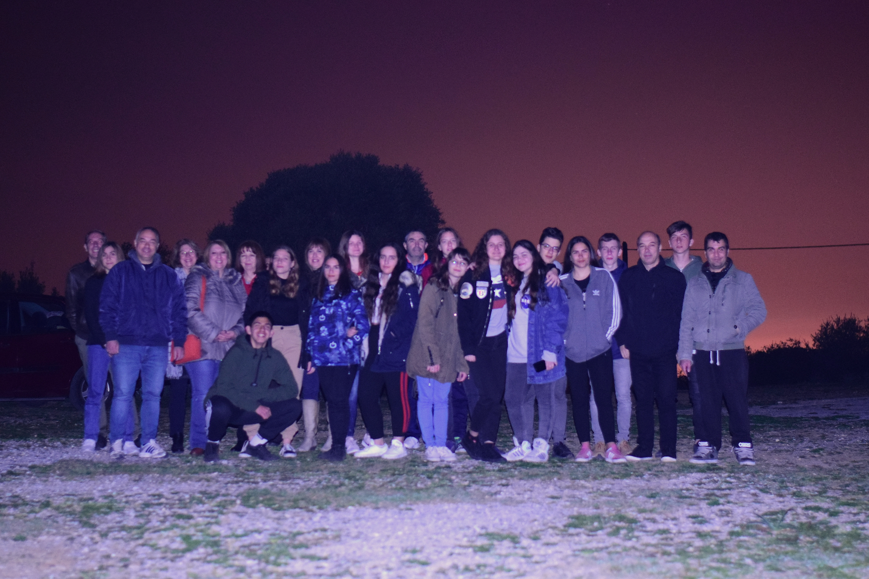 Αστροπαρατήρηση  για  την ομάδα  Erasmus+  του 8ου Λυκείου Βόλου