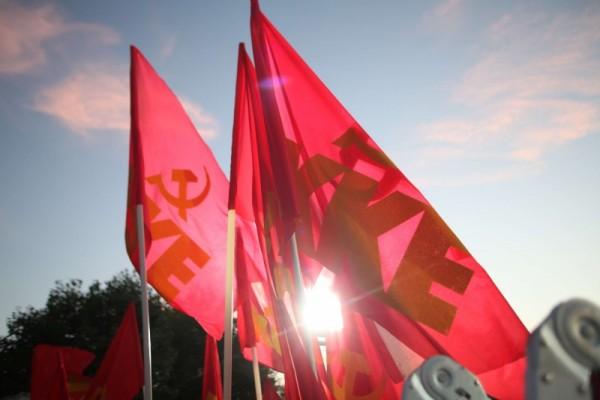 Προβοκατόρικα συνθήματα σε βάρος του ΚΚΕ, καταγγέλλει η ΤΕ Βόλου