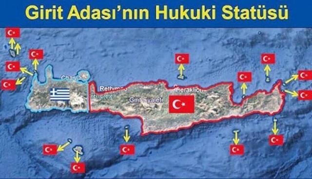 «Πήραν» και την Κρήτη οι Τούρκοι! Νέος χάρτης πρόκληση λίγες μέρες μετά τη Σούδα