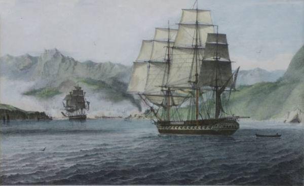 Πολεμικά πλοία στον Παγασητικό το 1821
