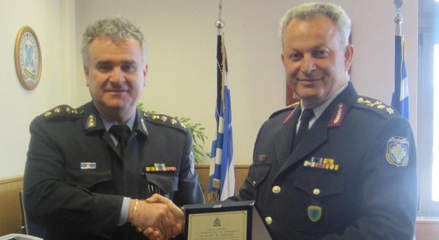 Στην Περιφερειακή Αστυνομική Διεύθυνση Θεσσαλίας ο Διοικητής Πυροσβεστικής Λάρισας