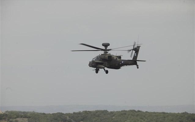 Αναγκαστική προσγείωση ελικοπτέρου «Απάτσι» στα Φάρσαλα