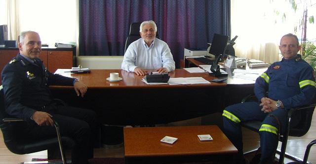 Ο Νικ. Ντίτορας υποδέχθηκε τον νέο υποστράτηγο του Πυροσβεστικού Σώματος