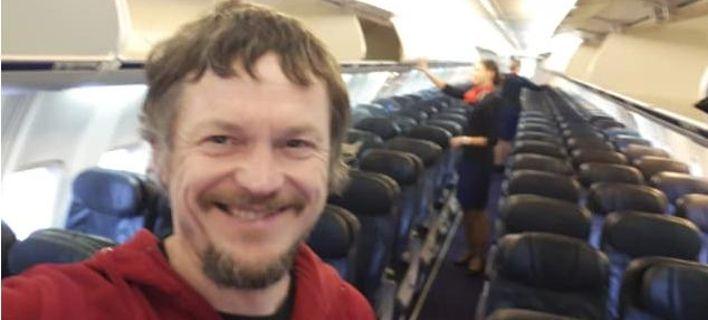 Ηταν ο μοναδικός επιβάτης σε πτήση αεροσκάφους Boeing 189 θέσεων! [εικόνες]