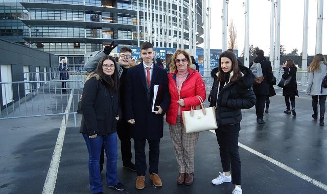 Μαθήτριες του Βόλου στο Ευρωπαϊκό Κοινοβούλιο στο Στρασβούργο