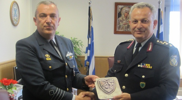 Επίσκεψη του νέου Διοικητή της 110 Π.Μ. στον Αστυνομικό Διευθυντή Θεσσαλίας