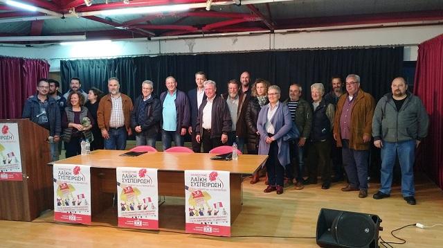 Οι πρώτοι 62 υποψήφιοι της παράταξης του Σάββα Τσόγκα στον Αλμυρό