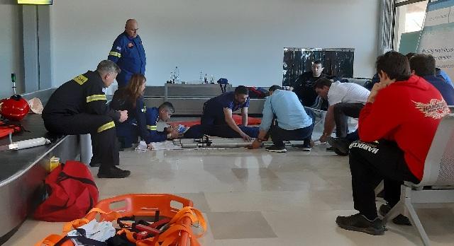 Σεμινάριο πρώτων βοηθειών σε εργαζόμενους στον αερολιμένα Σκιάθου