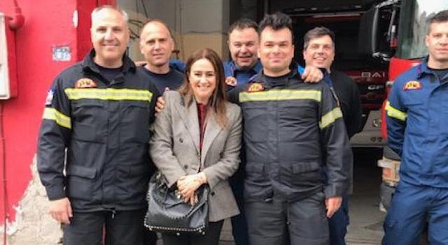 Στο Βόλο η υποψήφια ευρωβουλευτής της ΝΔ Ελένη Παναγιωταρέα