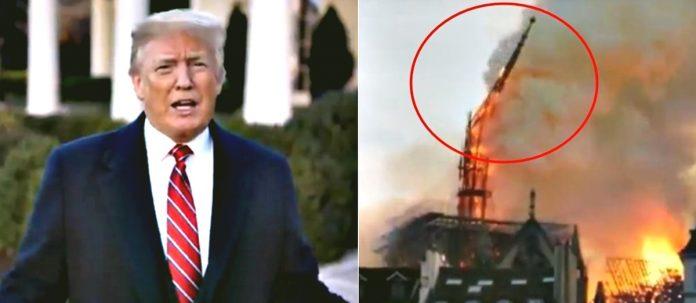Όταν ο Τραμπ πρότεινε να σβήσουν την φωτιά με νερό & οι Γάλλοι τον αποστόμωσαν