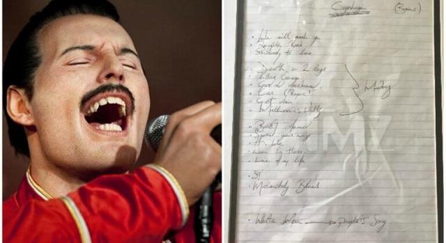 Σε δημοπρασία σπάνιο χειρόγραφο του Freddie Mercury [εικόνες]