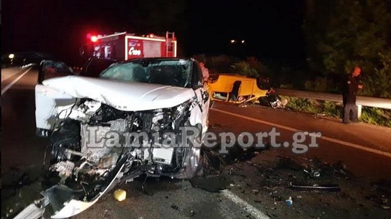 Φθιώτιδα: Νεκρή οδηγός που οδηγούσε ανάποδα στην εθνική οδό