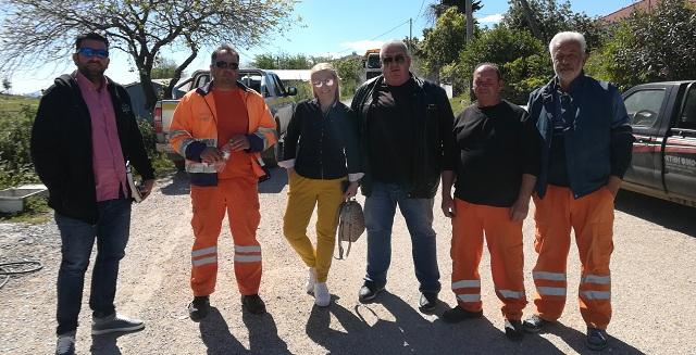Αυτοψία Δωροθέας Κολυνδρίνη σε εργασίες ασφαλτικών στον Δήμο Αλμυρού
