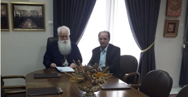 Εποικοδομητική συνεργασία του Μητροπολίτη με τον δήμαρχο Ζαγοράς -Μουρεσίου
