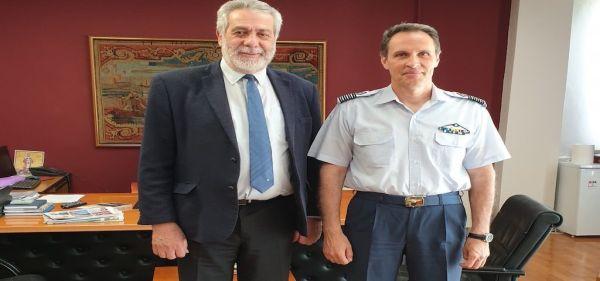 Συνάντηση Δ. Εσερίδη με τον νέο διοικητή 111 Πτέρυγας Μάχης