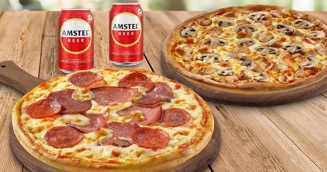 Νέα combo προσφορά Pizza Fan και Amstel