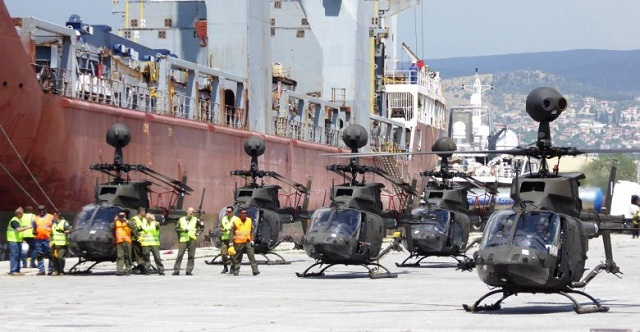 Στον Βόλο τα επιθετικά ελικόπτερα Kiowa [εικόνες]