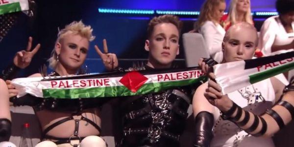 Eurovision 2019: Οι Ισλανδοί σήκωσαν κασκόλ στα χρώματα της Παλαιστίνης