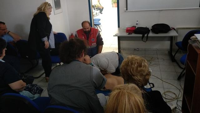 Σεμινάριο Α΄ Βοηθειών στο Κέντρο Κοινωνικής Πρόνοιας Θεσσαλίας στον Βόλο
