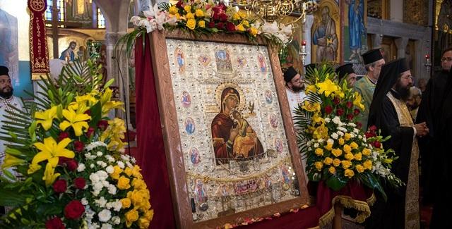 Λατρευτικές εκδηλώσεις για την Εικόνα της Παναγίας «Φοβεράς Προστασίας»