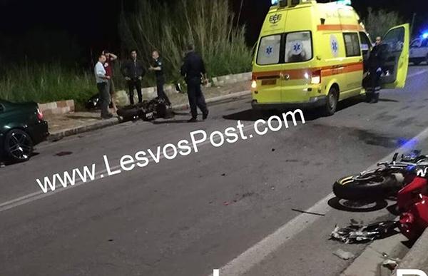 Φρικτό τροχαίο με μηχανές στη Μυτιλήνη - Τρεις νεκροί