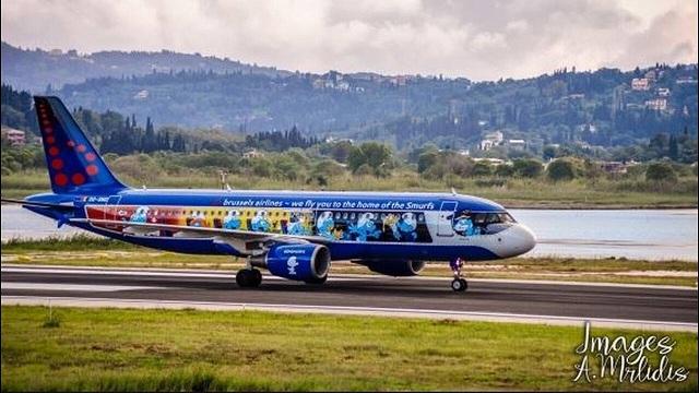 Το αεροπλάνο των... Στρουμφς προσγειώθηκε στην Κέρκυρα