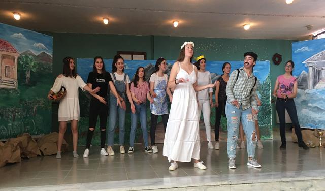 Μαθητές της Ν. Αγχιάλου ανέβασαν την «Ειρήνη» του Αριστοφάνη