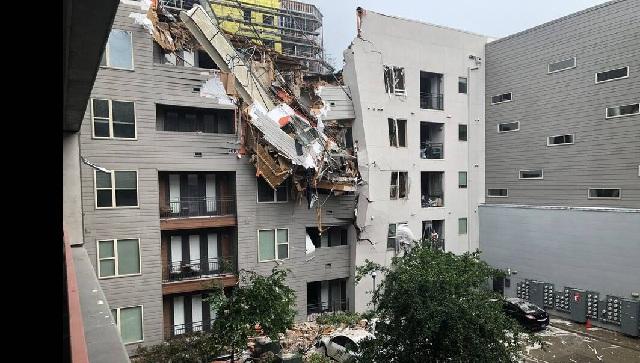 Γερανός έπεσε σε πολυκατοικία: Ένας νεκρός και έξι τραυματίες