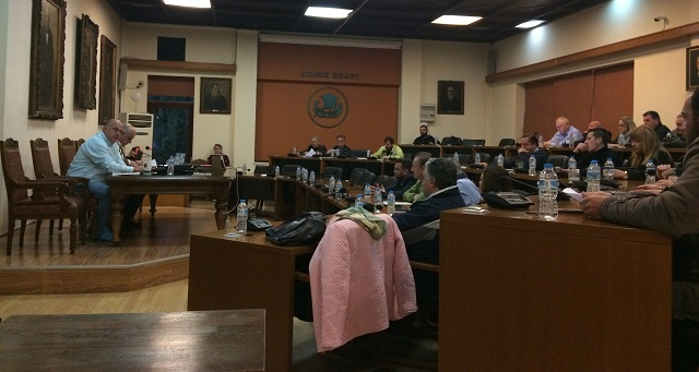 Εκτακτη συνεδρίαση του δημοτικού συμβουλίου Βόλου