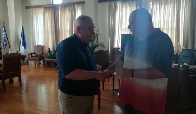 Συνάντηση Ν. Χαυτούρα με τον Δήμαρχο Βόλου