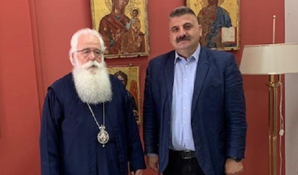 Εθιμοτυπική επίσκεψη Μ. Μιτζικού στον Μητροπολίτη Δημητριάδος