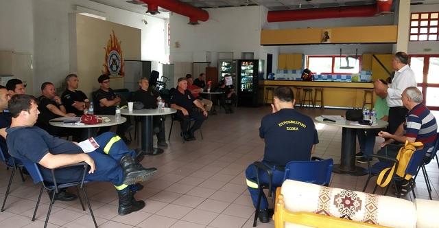 Επίσκεψη υποψηφίων βουλευτών του ΚΚΕ στην Πυροσβεστική της Β΄ ΒΙΠΕ Βόλου