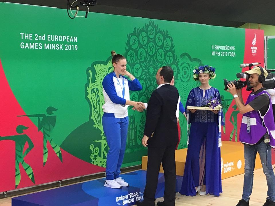 Ασημένιο μετάλλιο στους Ευρωπαϊκούς του Μινσκ η Κορακάκη
