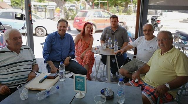 Στη Σκόπελο περιόδευσε ο υποψήφιος βουλευτής Μαγνησίας του ΚΙΝΑΛ Γ. Σακκόπουλος