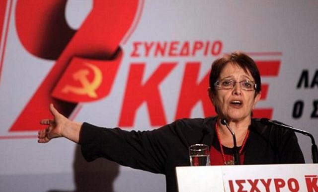 Η Αλέκα Παπαρήγα στην κεντρική προεκλογική συγκέντρωση του ΚΚΕ στον Βόλο