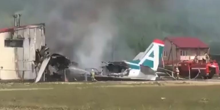 Αεροπορικό δυστύχημα στη Ρωσία: Δύο νεκροί και 19 τραυματίες