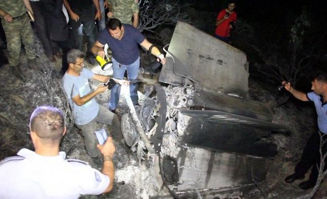 Ισχυρή έκρηξη στα Κατεχόμενα και φωτιά στον Πενταδάκτυλο