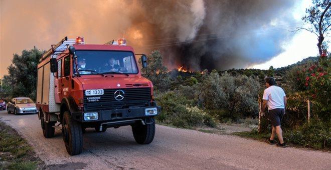 O χάρτης πρόβλεψης κινδύνου για πυρκαγιές σήμερα