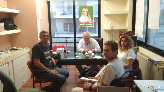 Με τους εργαζόμενους της ΔΕΥΑΜΒ ο Νίκος Χαυτούρας