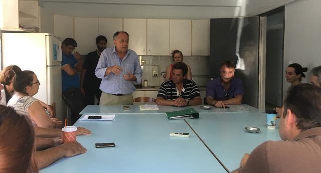 Επίσκεψη υποψηφίων βουλευτών του ΚΚΕ στη ΔΕΥΑΜΒ