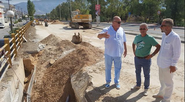 Σε εξέλιξη η κατασκευή του δίδυμου καταθλιπτικού αγωγού λυμάτων στην Αθηνών