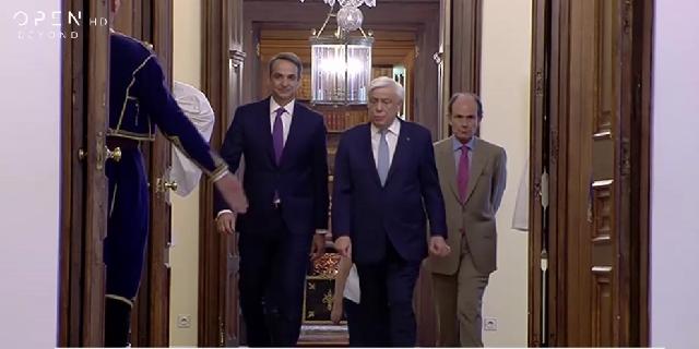 Στο Προεδρικό ο Κυριάκος Μητσοτάκης, ορκίζεται πρωθυπουργός