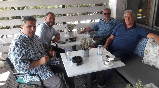 Συνάντηση Αλ. Μεϊκόπουλου με Δ. Αποστολάκη και Γ. Κίτσιο για τον Ε.Φ.Κ. στο τσίπουρο