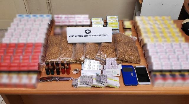 Αφορολόγητος καπνός και τσιγάρα, ναρκωτικά και φυσίγγια στο σπίτι 46χρονου