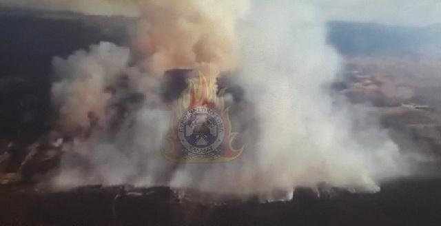 Εκκενώθηκε προληπτικά Μονή λόγω της φωτιάς στην Τανάγρα
