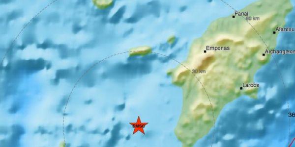Σεισμός 3,5 Ρίχτερ νότια της Ρόδου