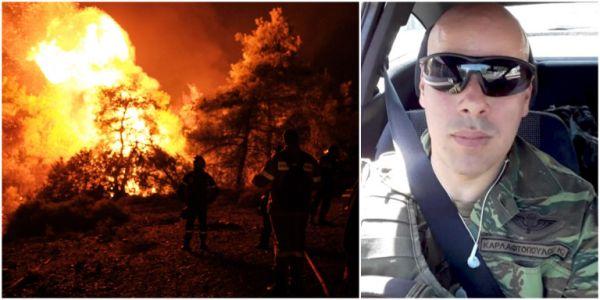 Συγκλονίζει ο εγκαυματίας πυροσβέστης: «Μας κύκλωσε η φωτιά στην Εύβοια»